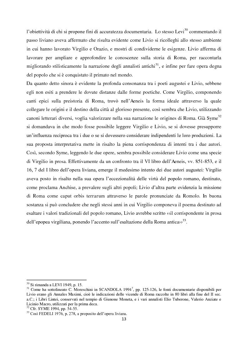 Anteprima della tesi: Livio e i mores della fondazione, Pagina 11