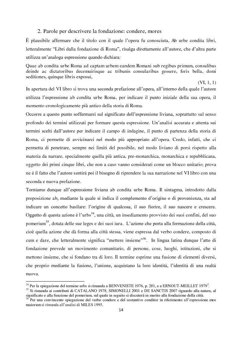 Anteprima della tesi: Livio e i mores della fondazione, Pagina 12