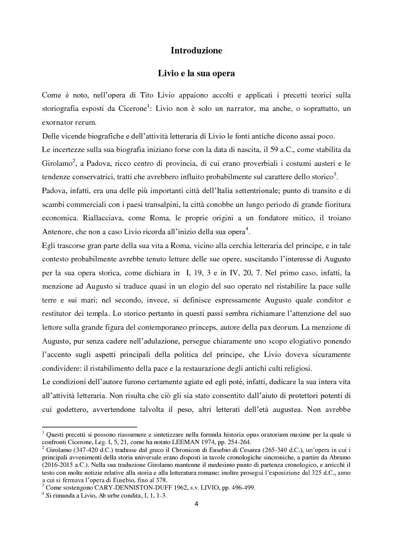 Anteprima della tesi: Livio e i mores della fondazione, Pagina 2