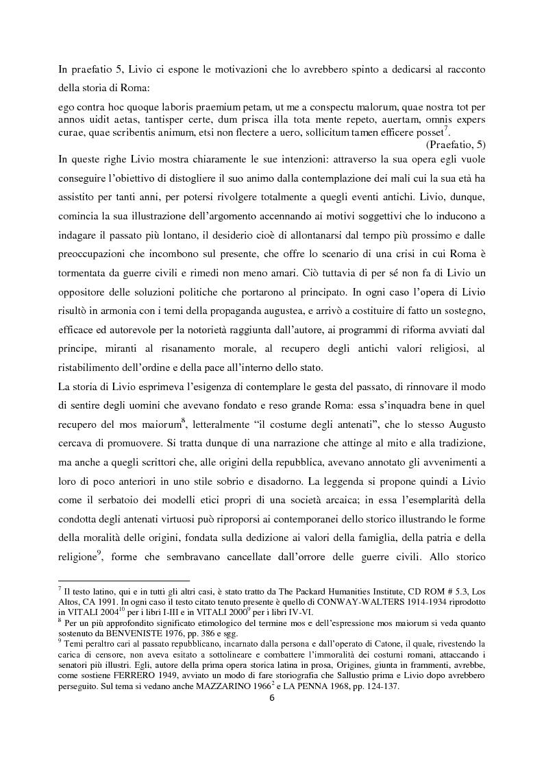 Anteprima della tesi: Livio e i mores della fondazione, Pagina 4