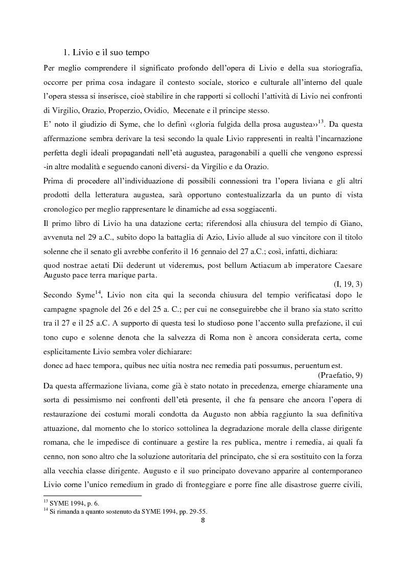 Anteprima della tesi: Livio e i mores della fondazione, Pagina 6