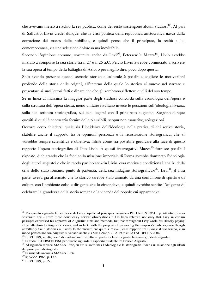 Anteprima della tesi: Livio e i mores della fondazione, Pagina 7