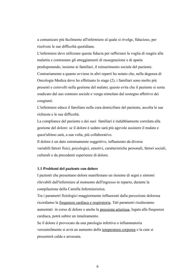 Anteprima della tesi: Il dolore oncologico: rilevazione dei bisogni dei pazienti in una degenza di oncologia medica e potenziale ruolo dell'agopuntura, Pagina 3