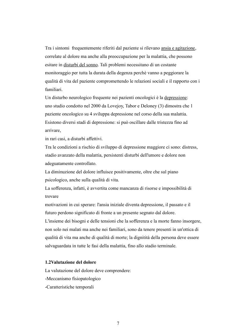 Anteprima della tesi: Il dolore oncologico: rilevazione dei bisogni dei pazienti in una degenza di oncologia medica e potenziale ruolo dell'agopuntura, Pagina 4