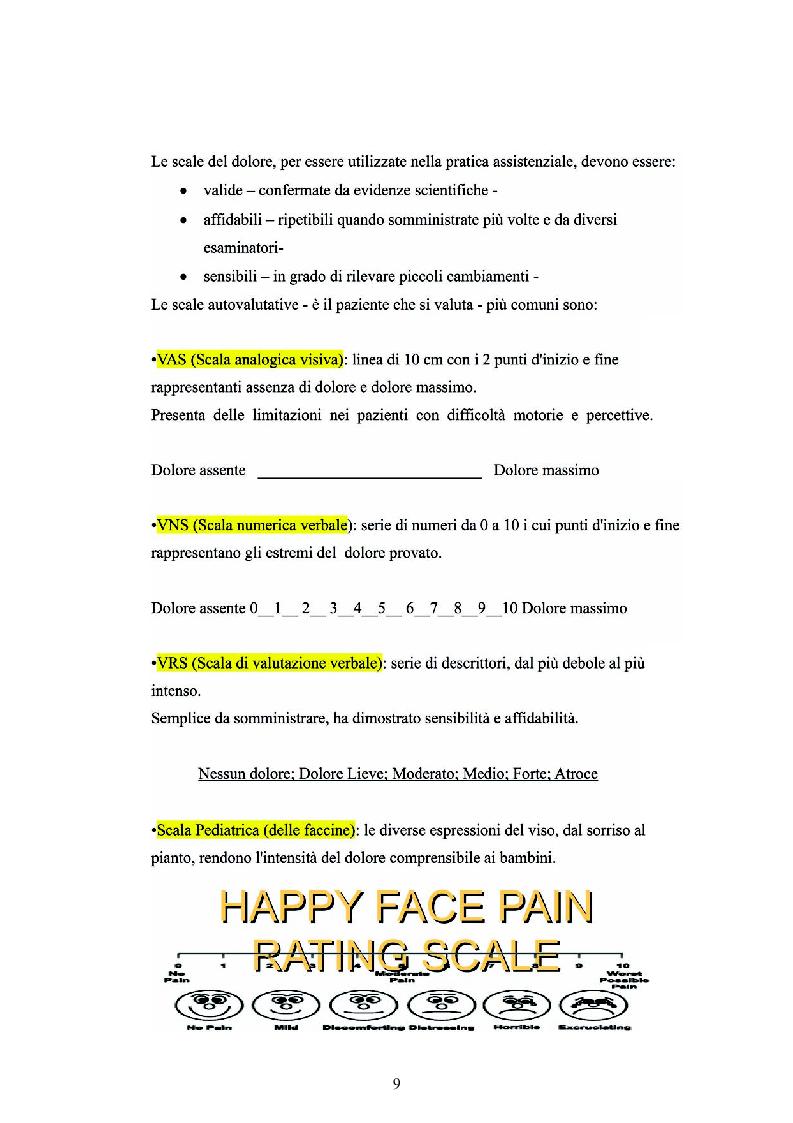 Anteprima della tesi: Il dolore oncologico: rilevazione dei bisogni dei pazienti in una degenza di oncologia medica e potenziale ruolo dell'agopuntura, Pagina 6