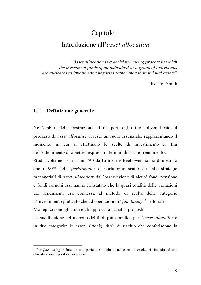 Anteprima della tesi: Il modello di Black & Litterman nel processo di ottimizzazione di portafoglio, Pagina 2