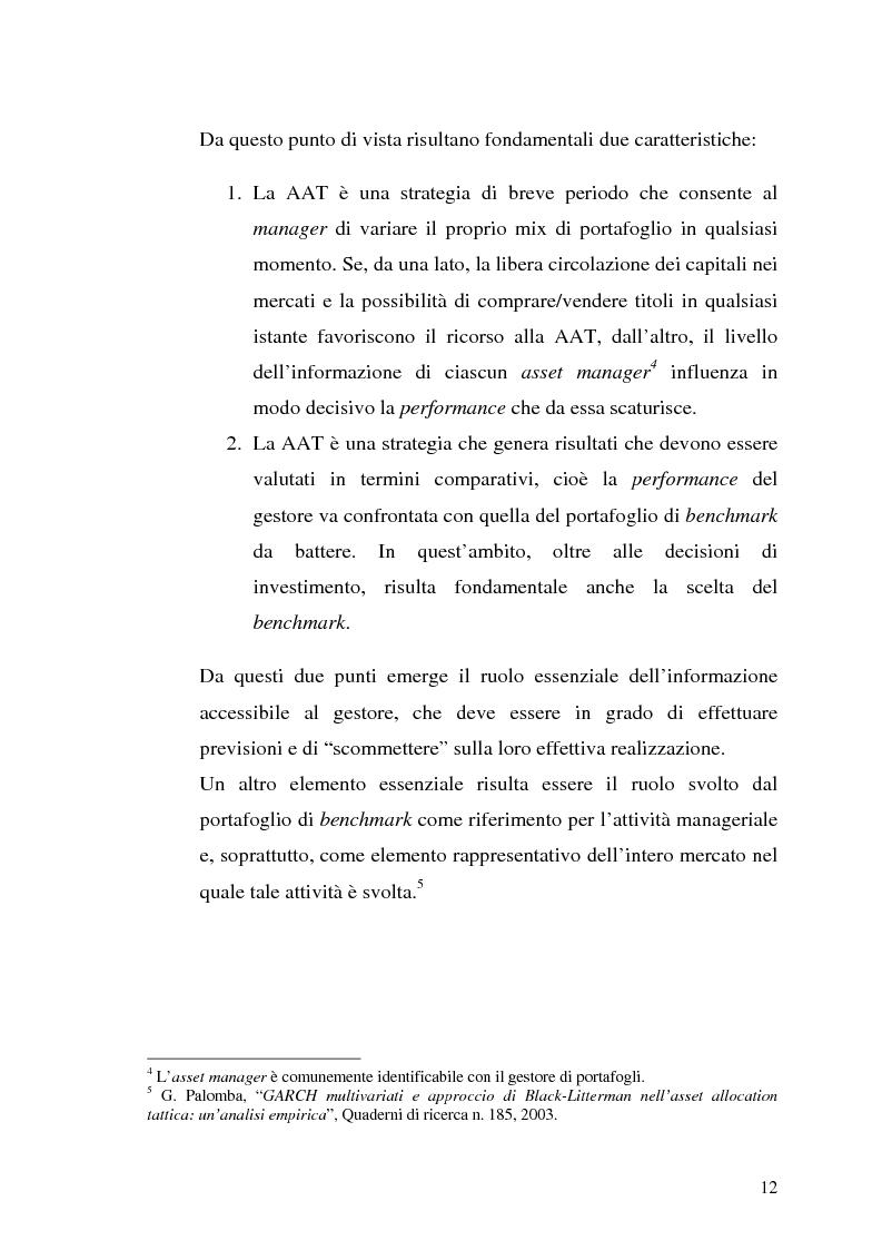 Anteprima della tesi: Il modello di Black & Litterman nel processo di ottimizzazione di portafoglio, Pagina 5