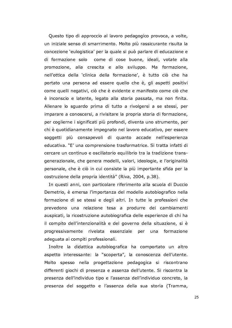 Estratto dalla tesi: La consulenza pedagogica all'asilo nido come lettura dei processi e mediazione tra i partners educativi