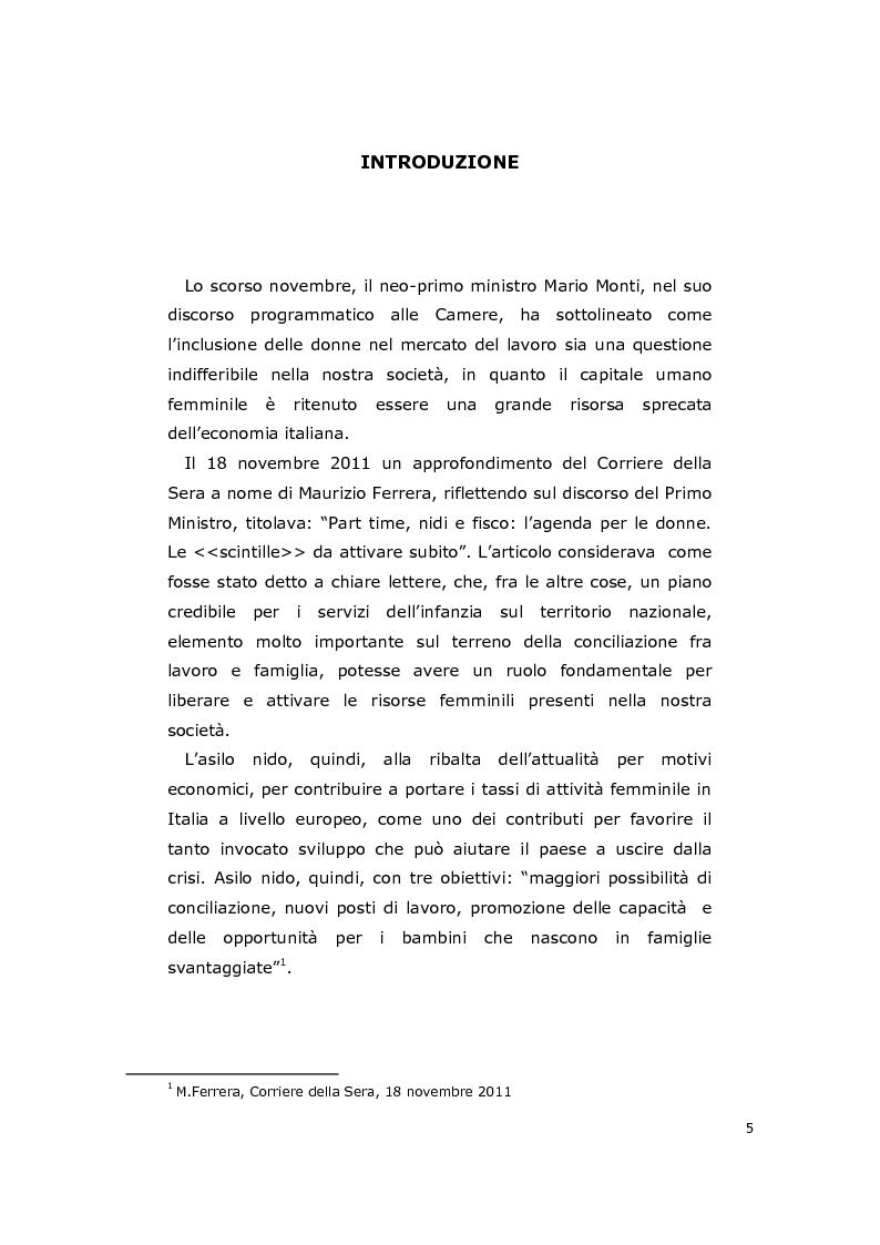 Anteprima della tesi: La consulenza pedagogica all'asilo nido come lettura dei processi e mediazione tra i partners educativi, Pagina 2
