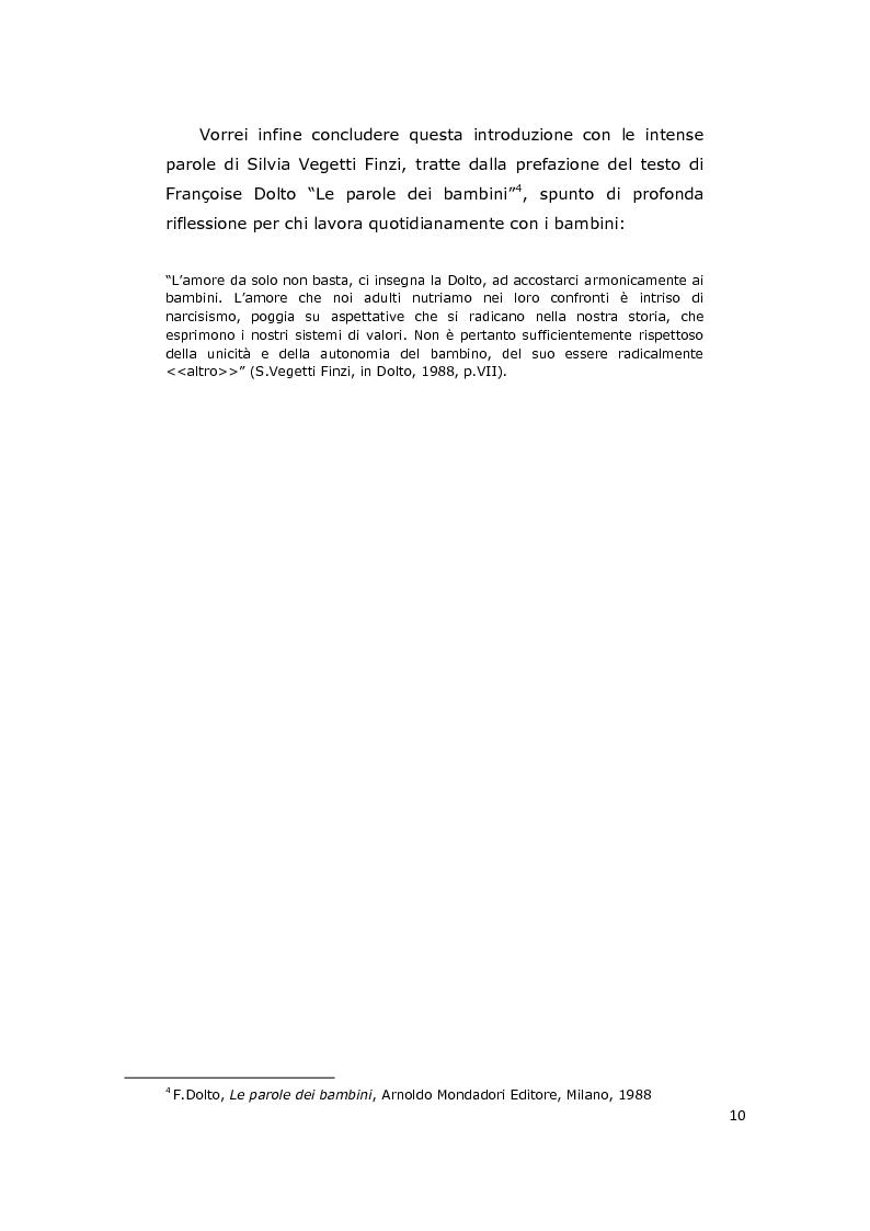 Anteprima della tesi: La consulenza pedagogica all'asilo nido come lettura dei processi e mediazione tra i partners educativi, Pagina 7