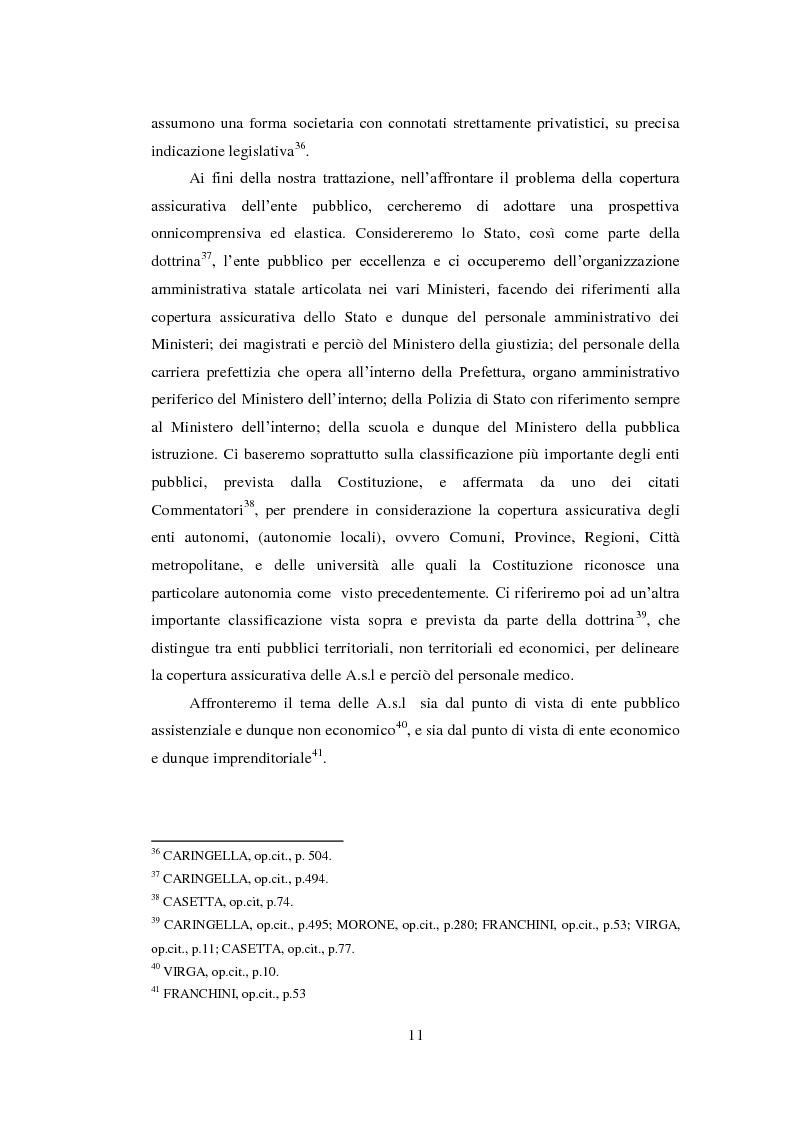 Anteprima della tesi: L'assicurazione della responsabilità civile di enti pubblici e aziende sanitarie, Pagina 12
