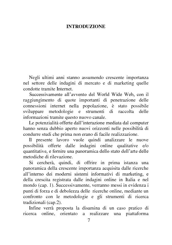 Anteprima della tesi: Ricerche di Marketing su Internet: fonti e attendibilità, Pagina 2