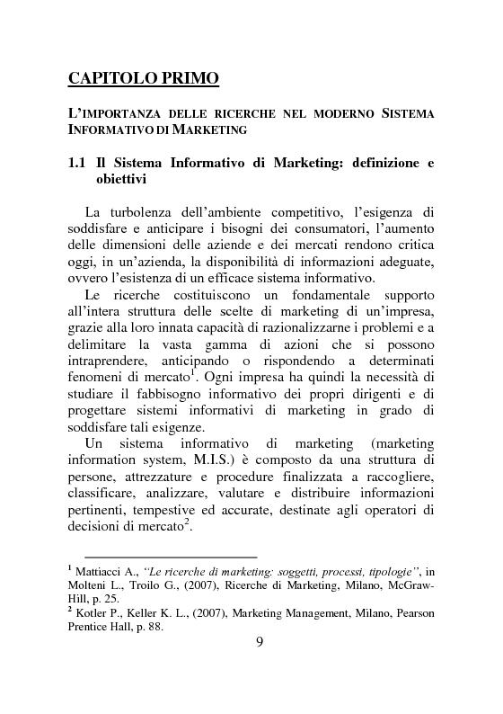 Anteprima della tesi: Ricerche di Marketing su Internet: fonti e attendibilità, Pagina 4