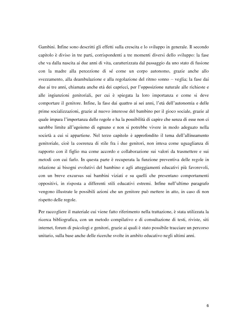 Anteprima della tesi: L'educazione del bambino dalla nascita ai sei anni - Come le regole genitoriali sono necessarie per uno sviluppo armonico della personalità, Pagina 3