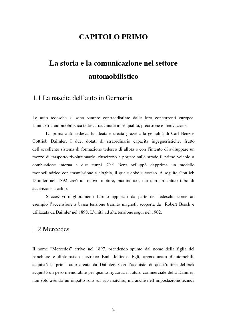 Anteprima della tesi: La pubblicità nel settore automobilistico tedesco: un confronto Italia-Germania., Pagina 3