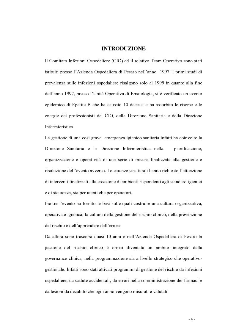 Anteprima della tesi: Indagine di incidenza sulle polmoniti associate a ventilazione assistita nell'ambito del programma di gestione del rischio clinico dell'Azienda Ospedaliera di Pesaro, Pagina 2