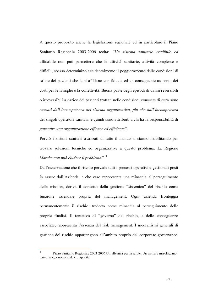 Anteprima della tesi: Indagine di incidenza sulle polmoniti associate a ventilazione assistita nell'ambito del programma di gestione del rischio clinico dell'Azienda Ospedaliera di Pesaro, Pagina 5
