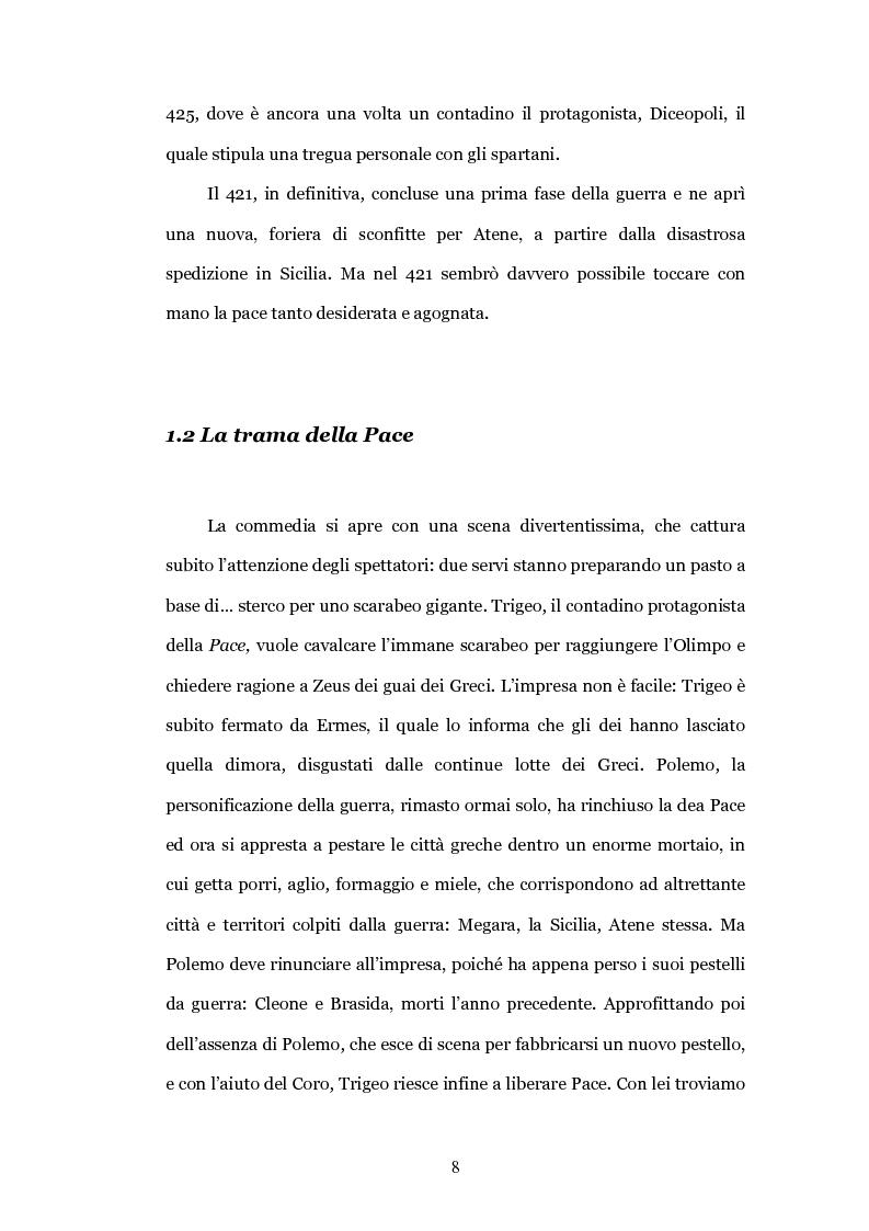 """Anteprima della tesi: Il teatro contro la guerra: la """"Pace"""" di Aristofane, Pagina 5"""