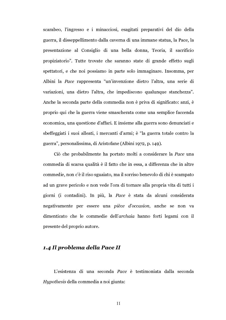 """Anteprima della tesi: Il teatro contro la guerra: la """"Pace"""" di Aristofane, Pagina 8"""