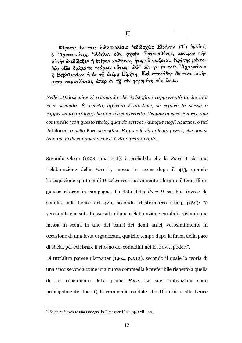 """Anteprima della tesi: Il teatro contro la guerra: la """"Pace"""" di Aristofane, Pagina 9"""