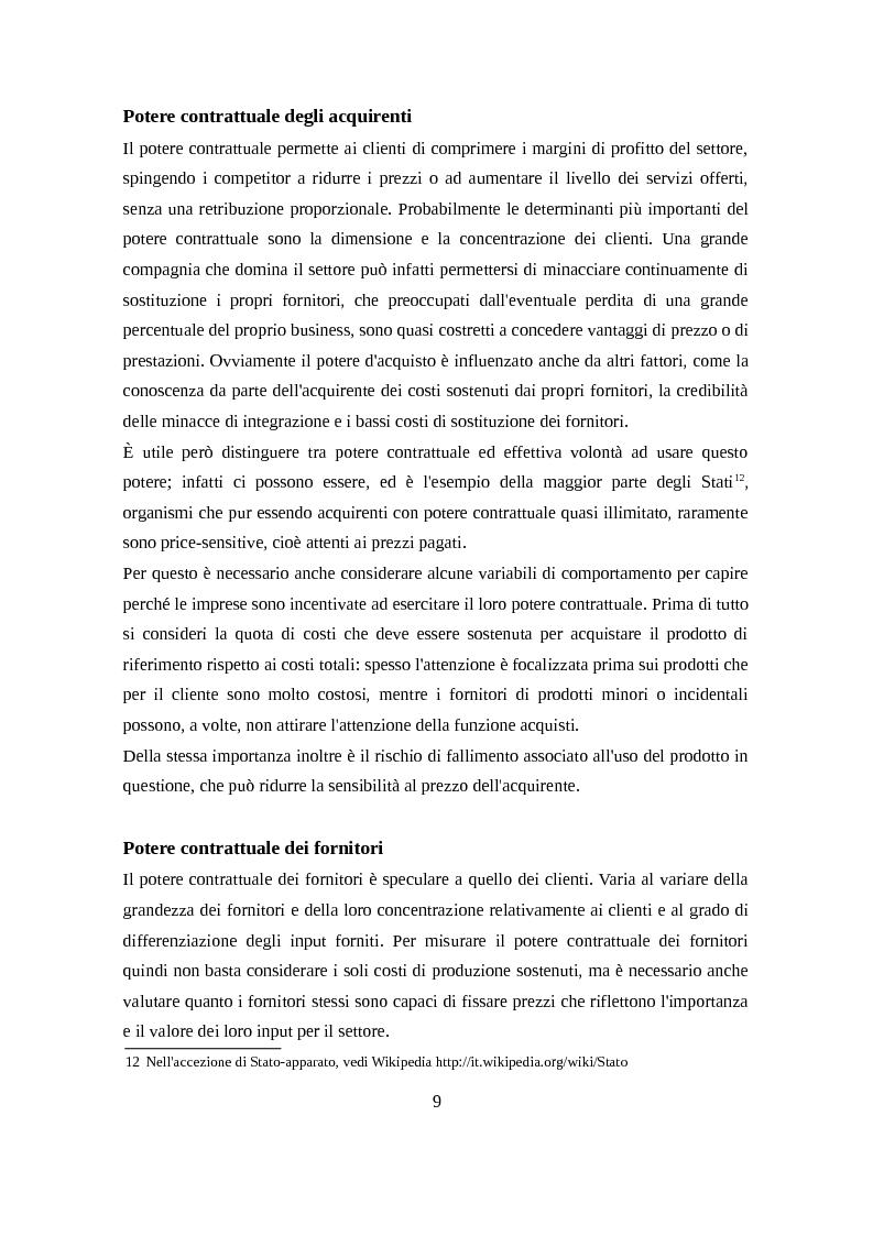 Estratto dalla tesi: Analisi del settore smartphone attraverso il modello delle cinque forze competitive