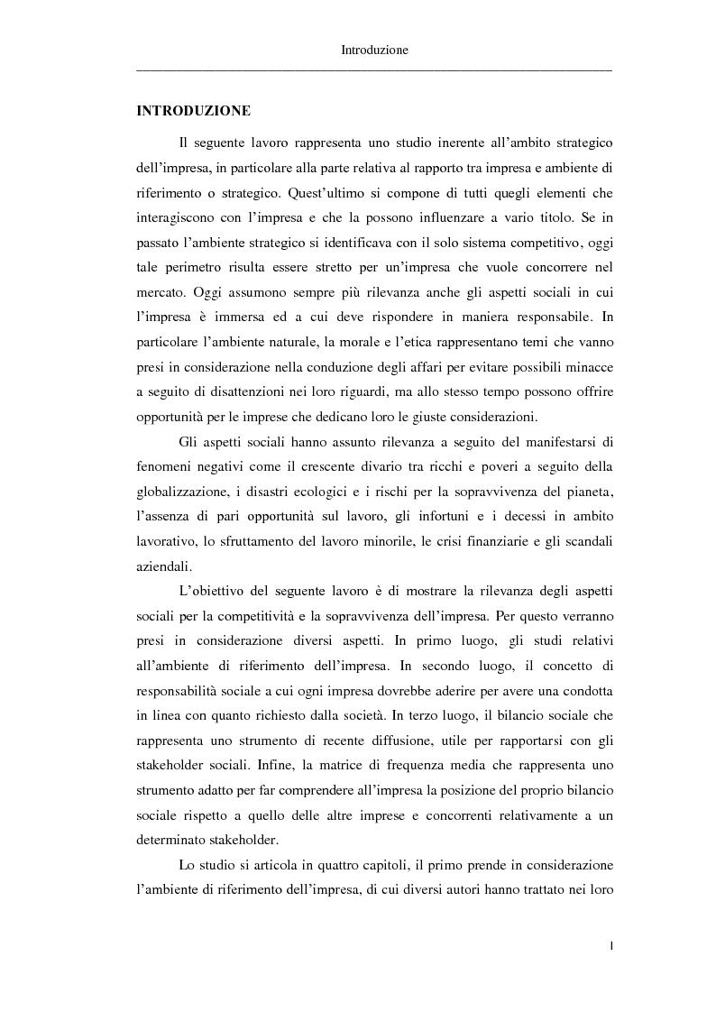 Anteprima della tesi: Il bilancio sociale. Risultati di un'indagine empirica, Pagina 2