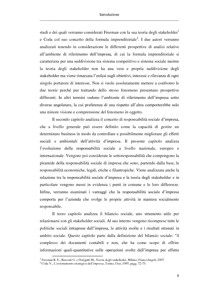 Anteprima della tesi: Il bilancio sociale. Risultati di un'indagine empirica, Pagina 3