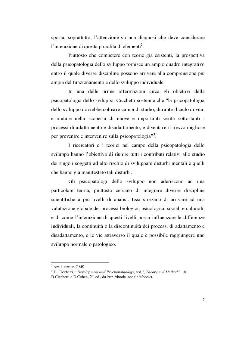 """Anteprima della tesi: Origini storiche e prospettive nell'ambito della """"developmental psychopathology"""", Pagina 6"""