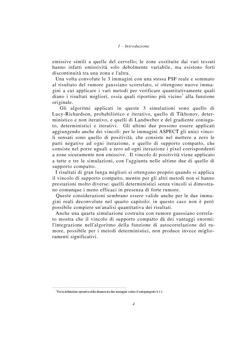 Anteprima della tesi: Metodi multimodali per il miglioramento della risoluzione di immagini SPECT, Pagina 4