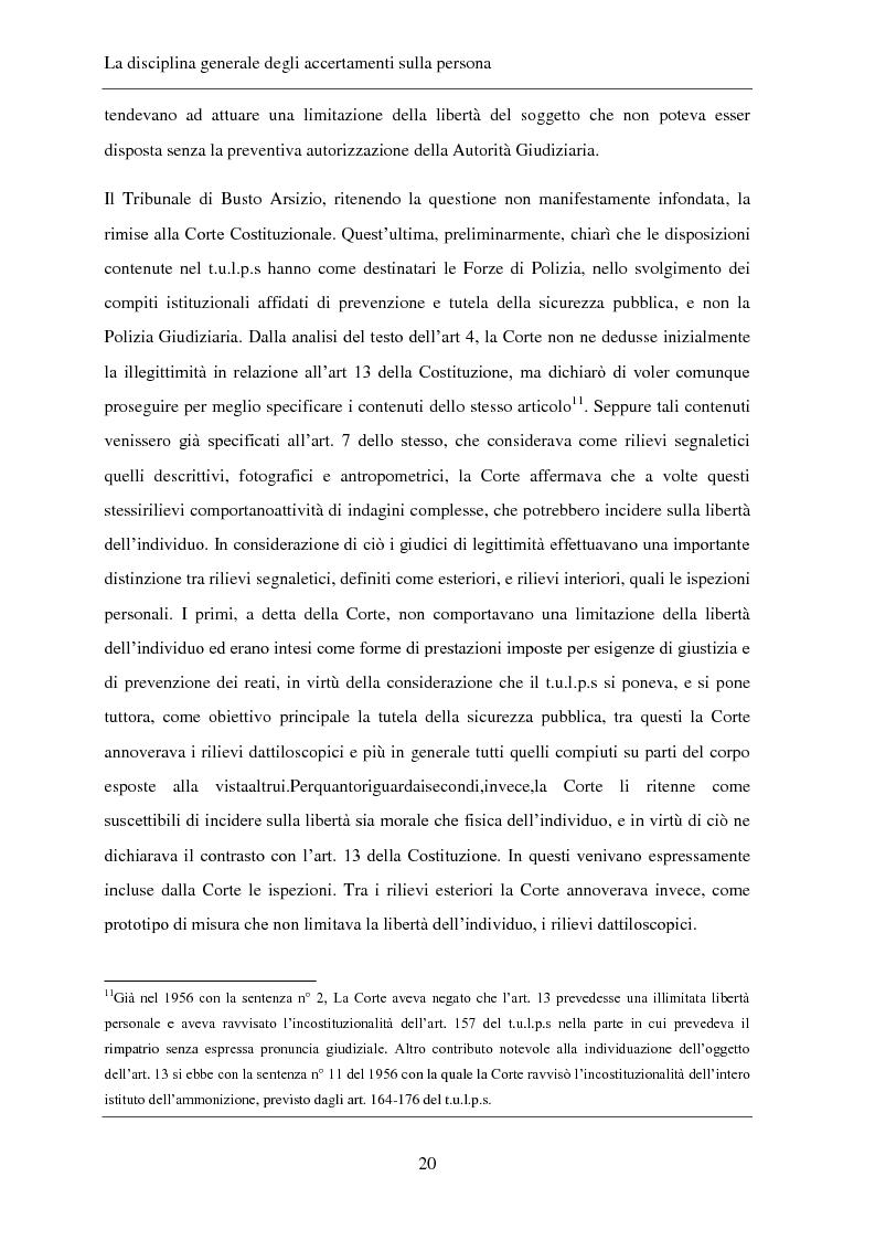 Anteprima della tesi: Gli accertamenti sulla persona nel processo penale, Pagina 11