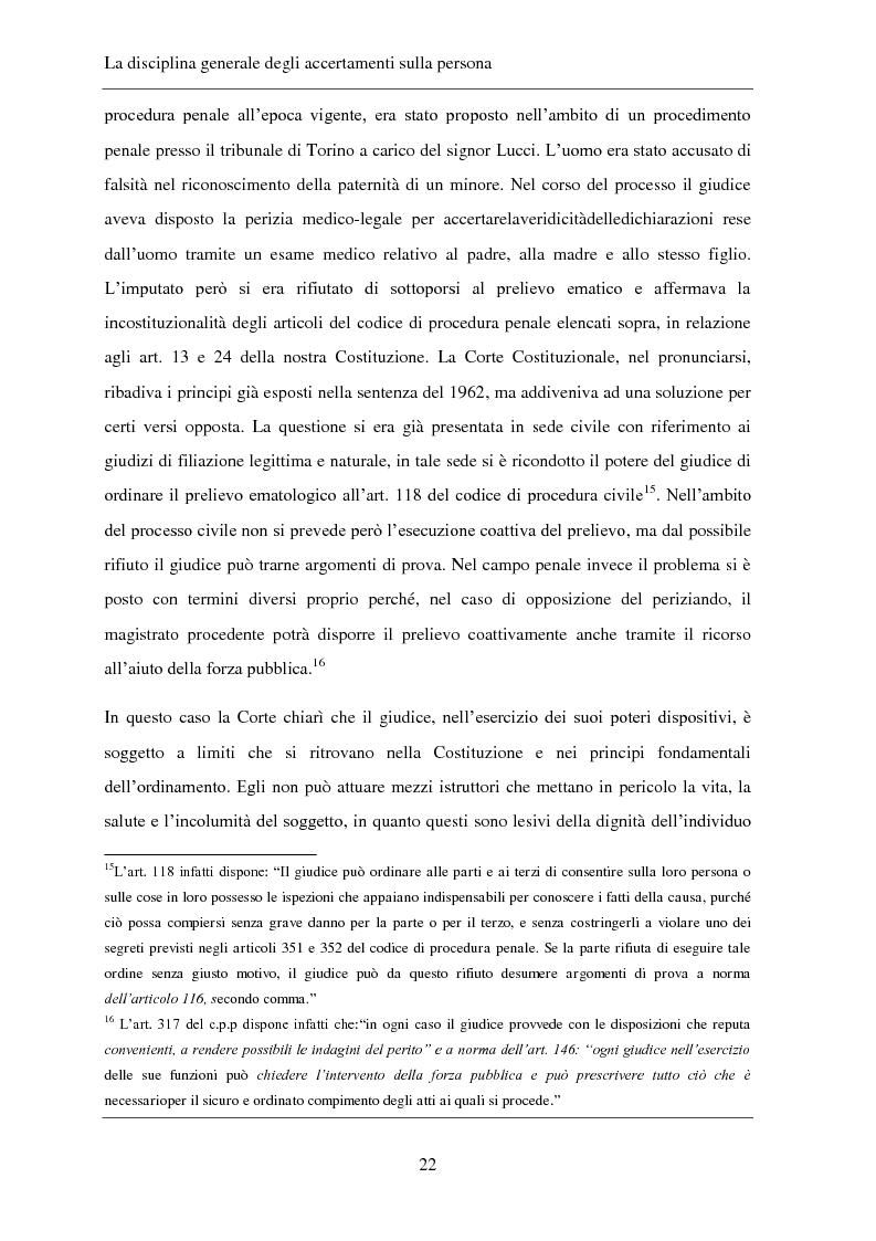Anteprima della tesi: Gli accertamenti sulla persona nel processo penale, Pagina 13