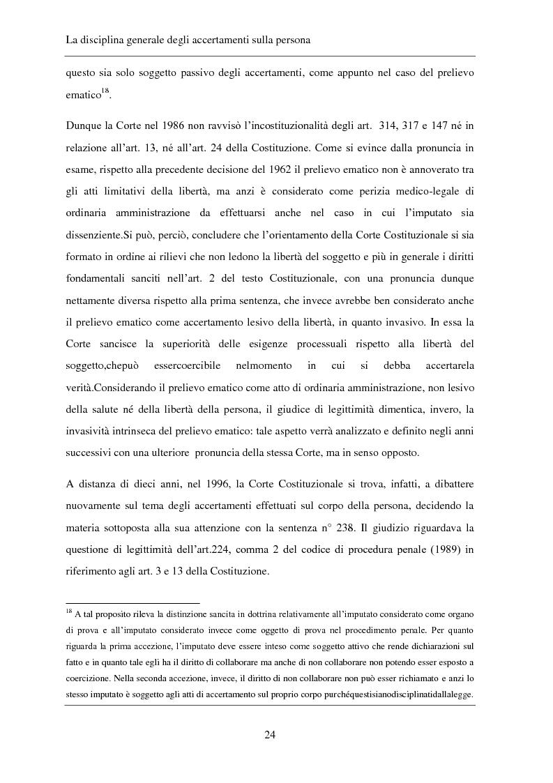 Anteprima della tesi: Gli accertamenti sulla persona nel processo penale, Pagina 15