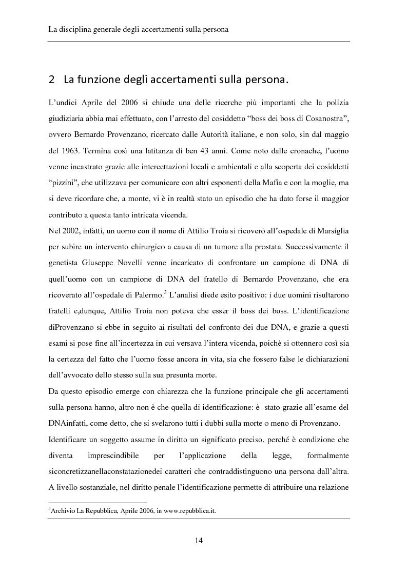 Anteprima della tesi: Gli accertamenti sulla persona nel processo penale, Pagina 5