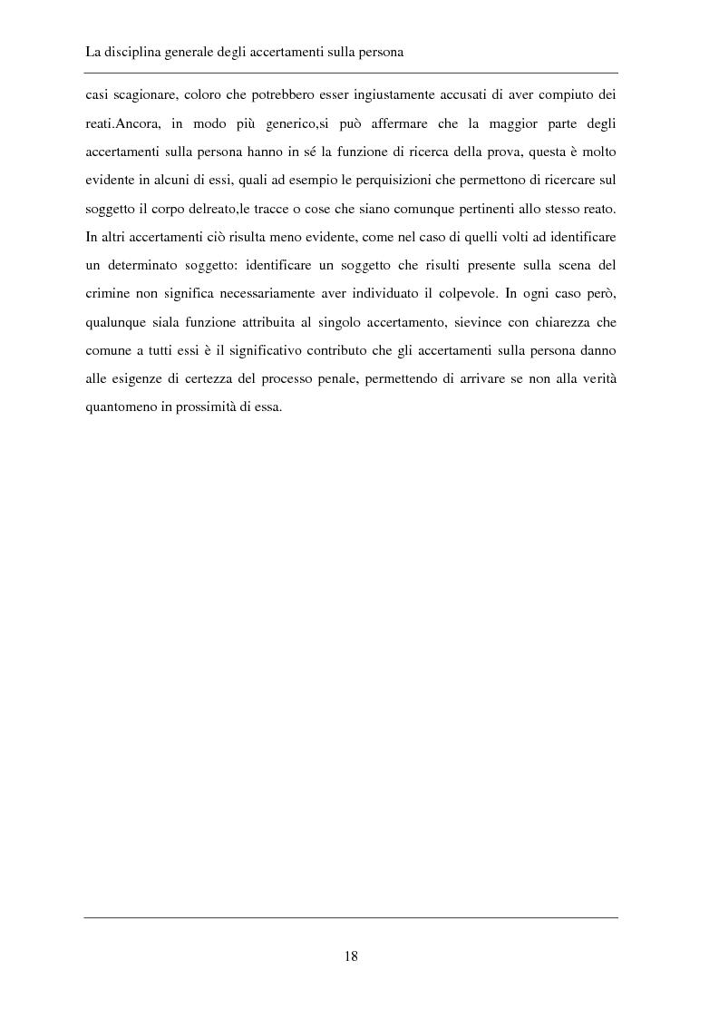 Anteprima della tesi: Gli accertamenti sulla persona nel processo penale, Pagina 9