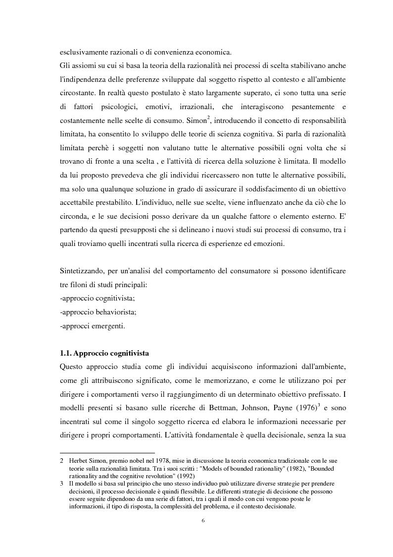 Anteprima della tesi: Nuove strategie di Marketing Esperienziale: il ruolo del Visual Merchandising come fattore d'influenza all'acquisto, Pagina 6