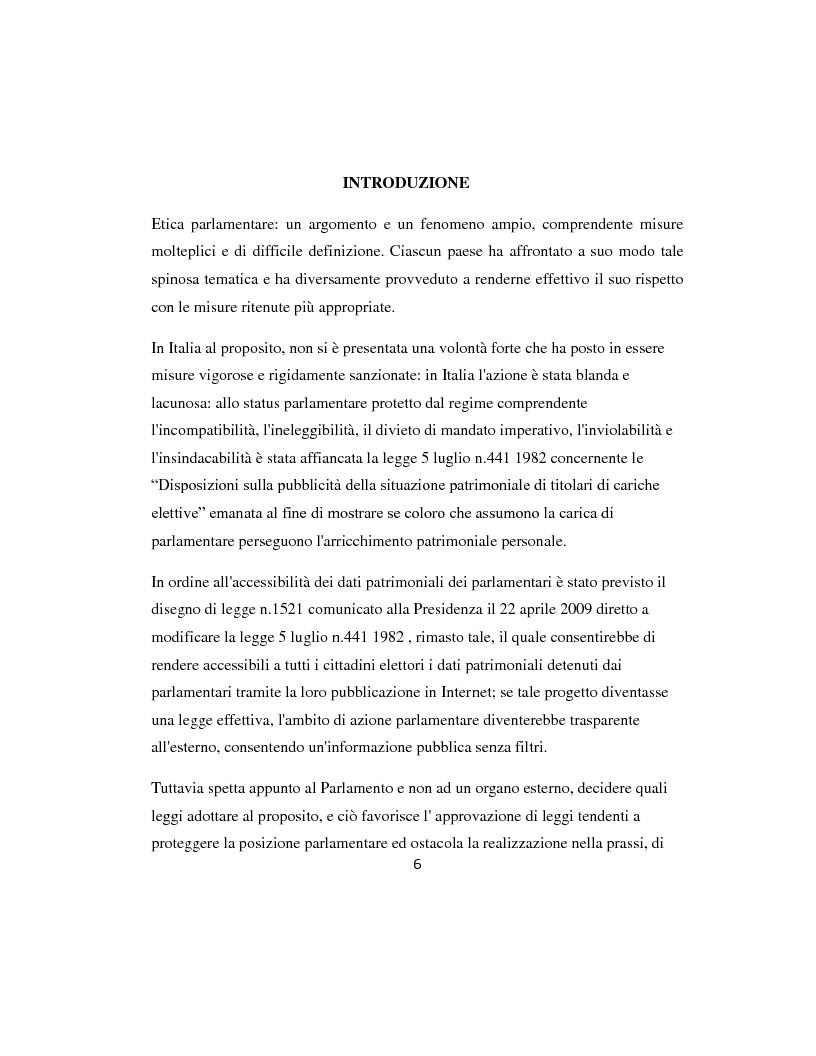 Anteprima della tesi: L'etica parlamentare: tendenze a confronto., Pagina 2