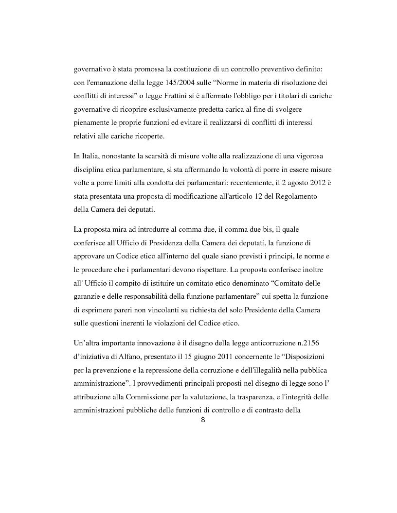 Anteprima della tesi: L'etica parlamentare: tendenze a confronto., Pagina 4