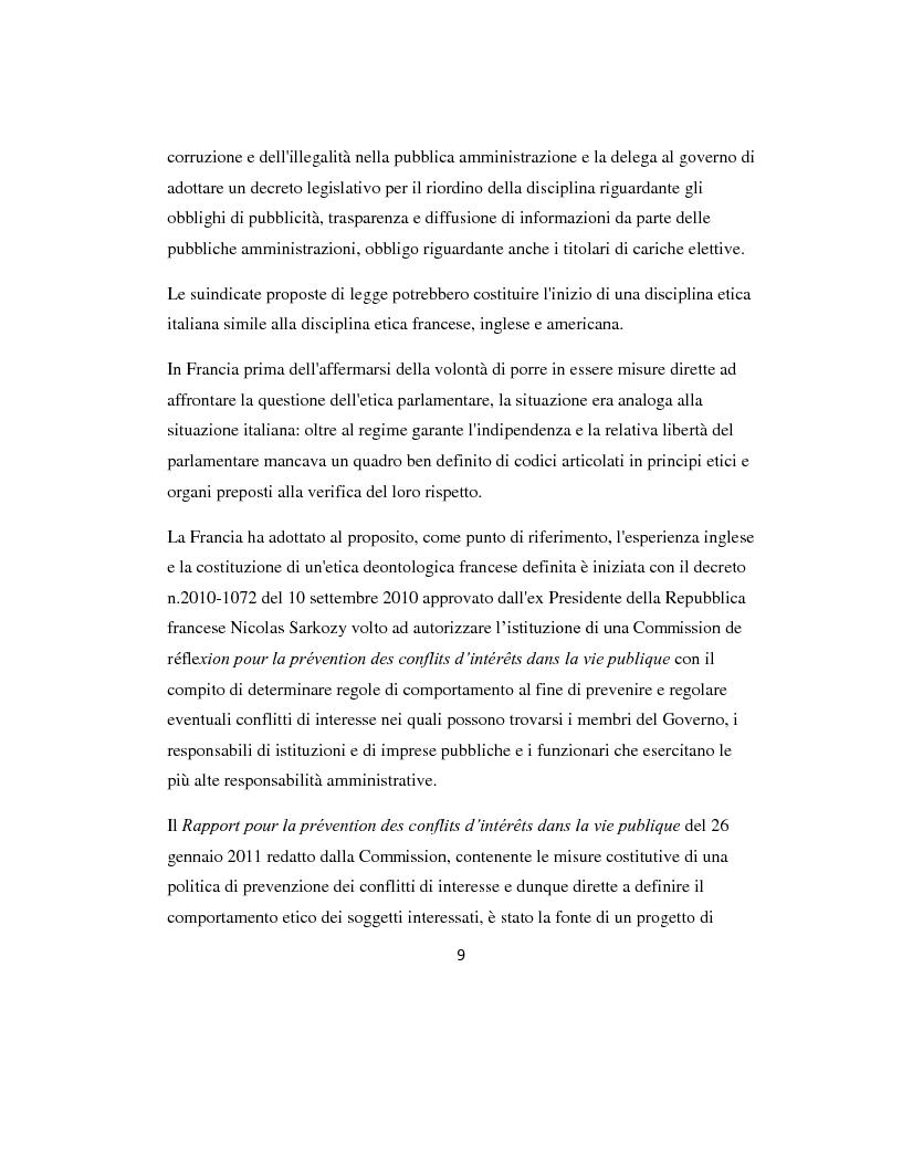 Anteprima della tesi: L'etica parlamentare: tendenze a confronto., Pagina 5