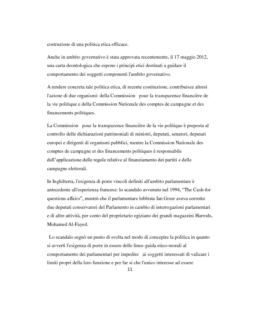 Anteprima della tesi: L'etica parlamentare: tendenze a confronto., Pagina 7
