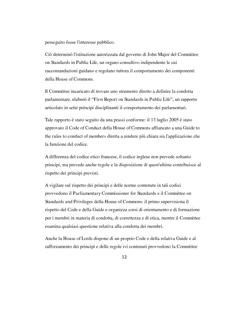 Anteprima della tesi: L'etica parlamentare: tendenze a confronto., Pagina 8