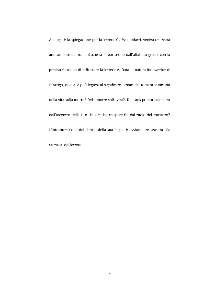 Anteprima della tesi: Sulla Lingua di ''Horcynus Orca'' di Stefano D'Arrigo, Pagina 4