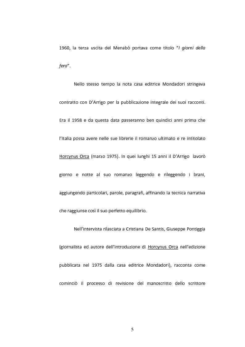 Anteprima della tesi: Sulla Lingua di ''Horcynus Orca'' di Stefano D'Arrigo, Pagina 6