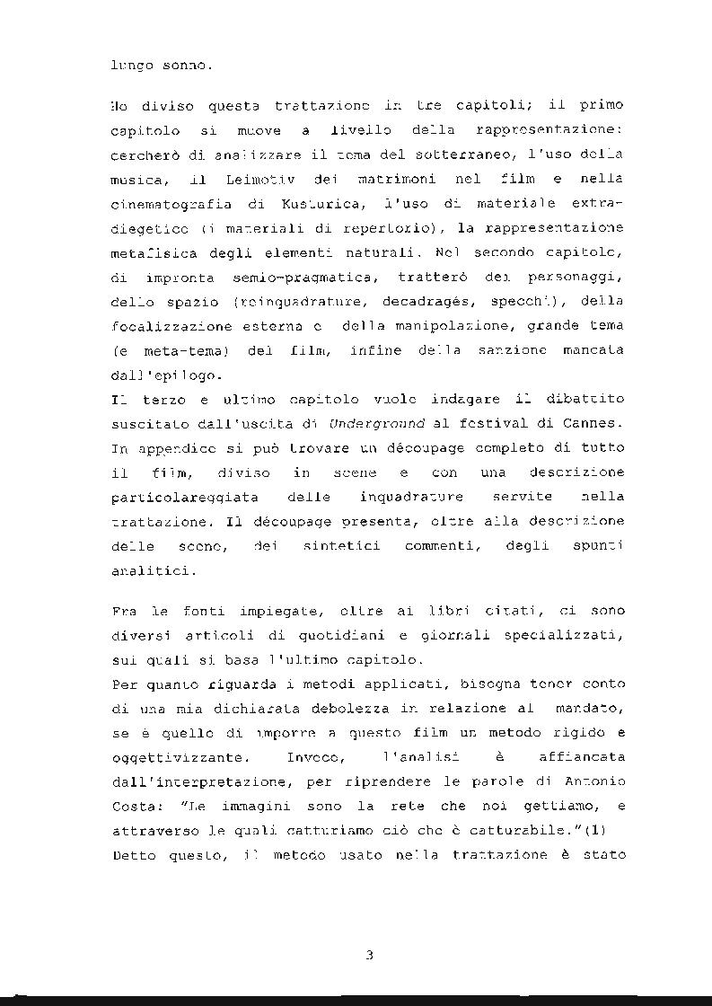 Anteprima della tesi: ''Underground'' di Emir Kusturica: comunicazione e manipolazione, Pagina 4