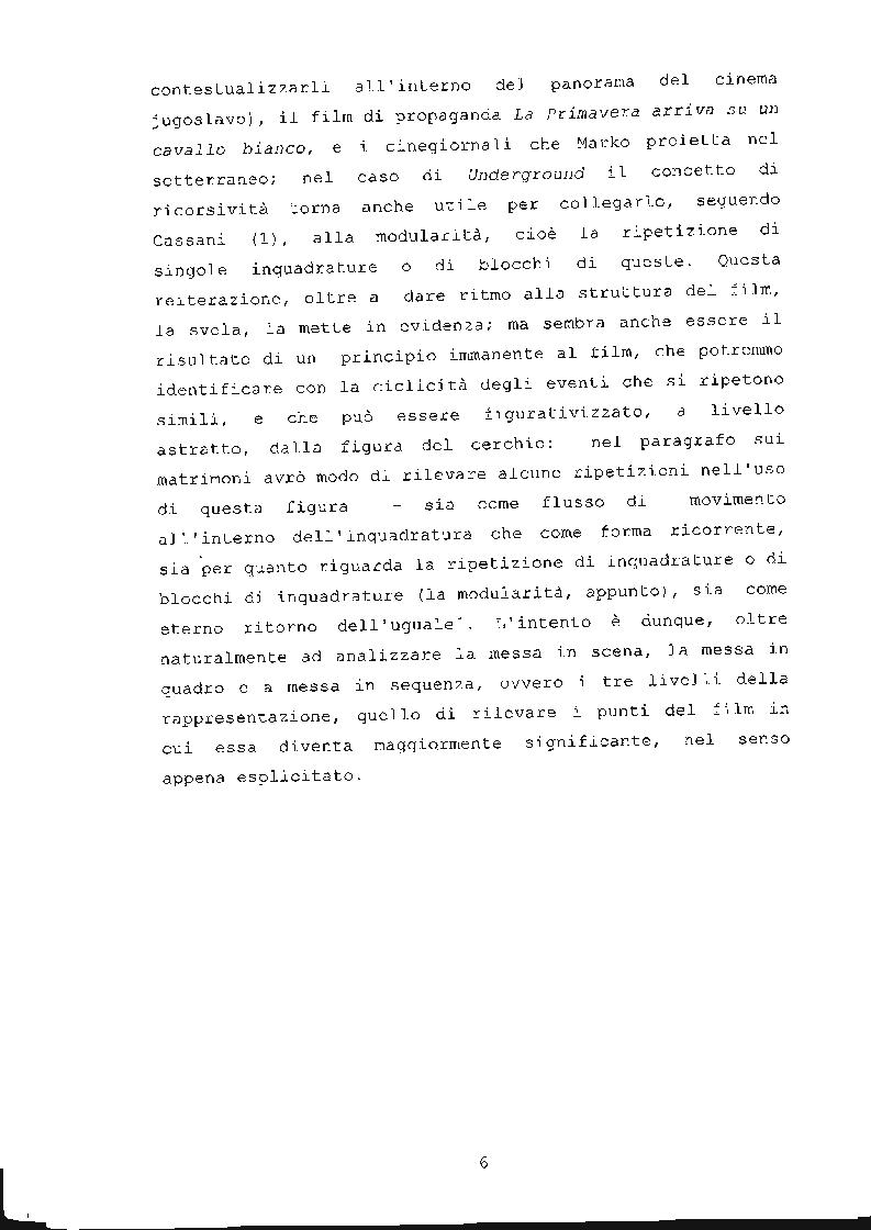 Anteprima della tesi: ''Underground'' di Emir Kusturica: comunicazione e manipolazione, Pagina 7