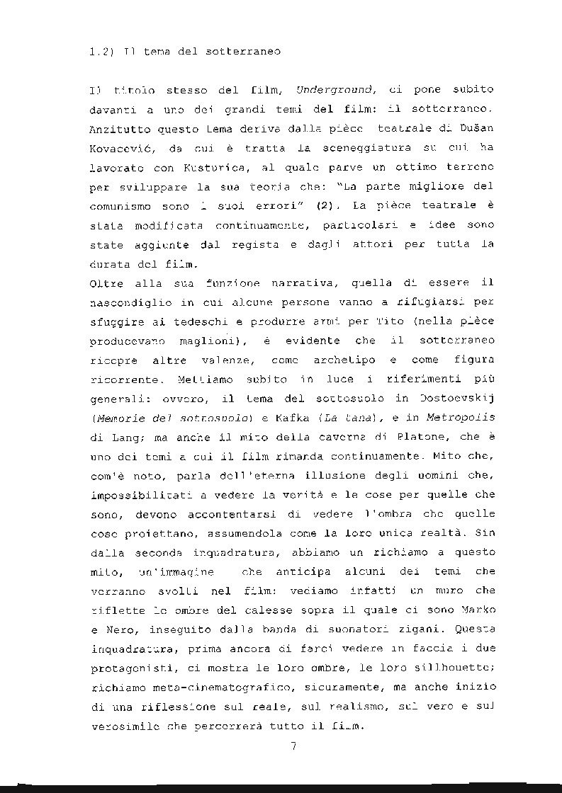 Anteprima della tesi: ''Underground'' di Emir Kusturica: comunicazione e manipolazione, Pagina 8