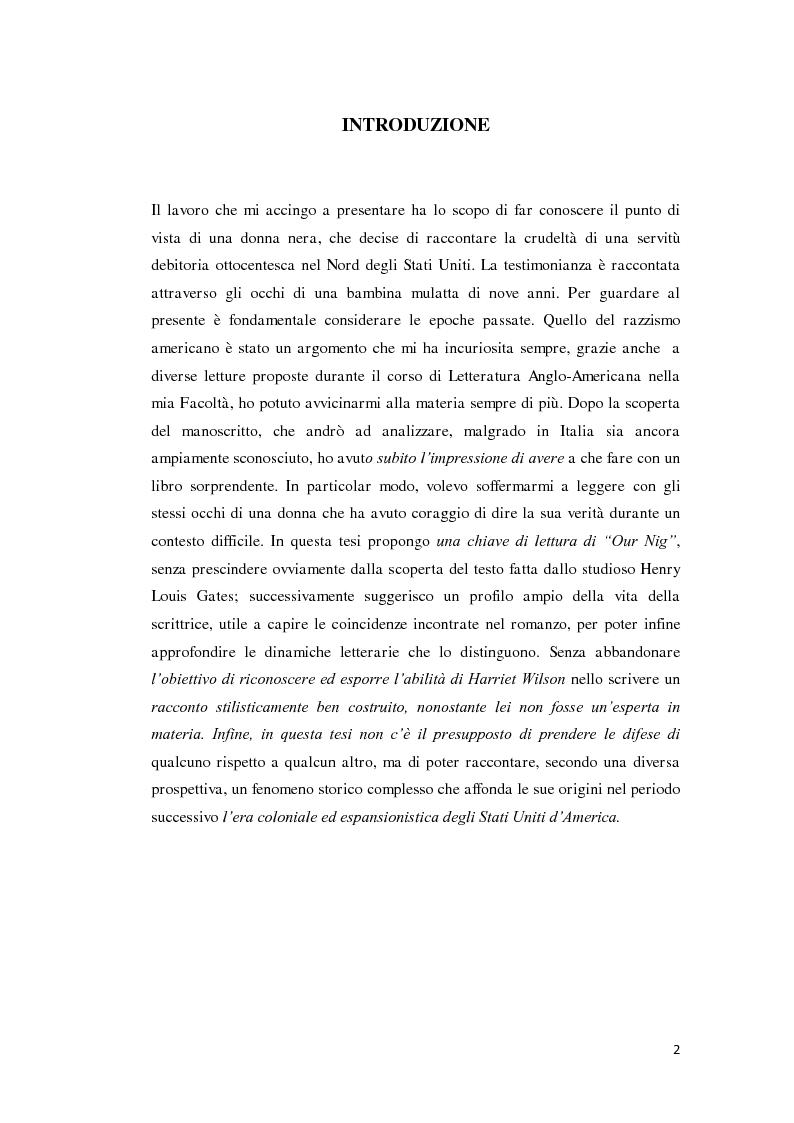 """Anteprima della tesi: """"Our Nig"""" di Harriet Wilson, Pagina 2"""