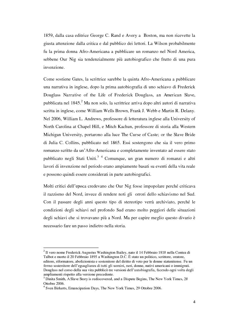 """Anteprima della tesi: """"Our Nig"""" di Harriet Wilson, Pagina 4"""
