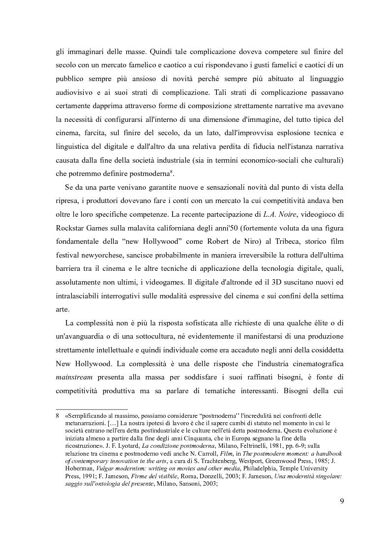 Anteprima della tesi: Mind-game film e forme della complessità, Pagina 8