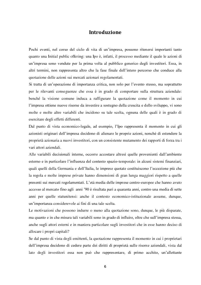 Anteprima della tesi: La performance di lungo periodo delle Initial public offerings, Pagina 2