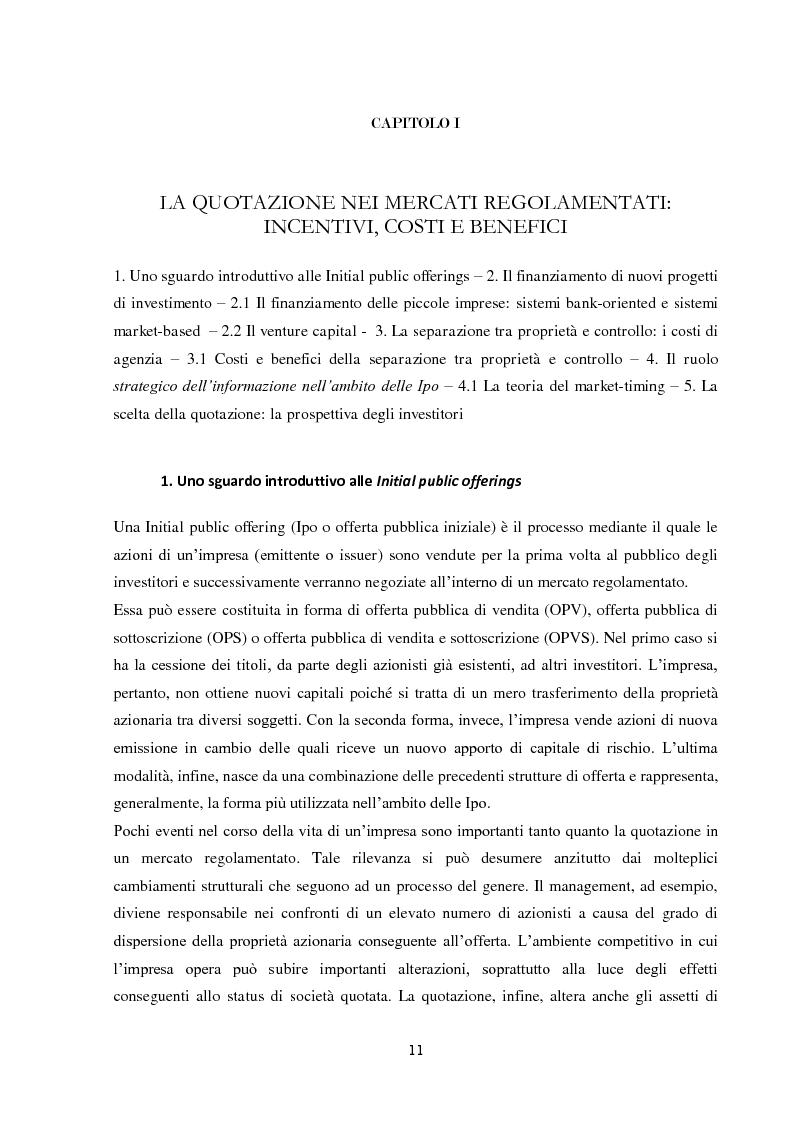 Anteprima della tesi: La performance di lungo periodo delle Initial public offerings, Pagina 7